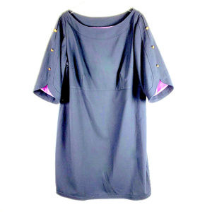 Eliza J 3/4 Sleeve Navy Dress with Sleeve Buttons